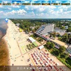 Jurmalas AeroFoto Virtuala Ture 360 gradu Panorama Majoru Pludmale