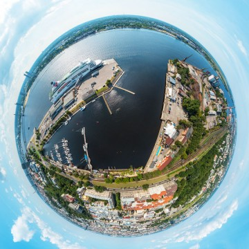 Andrejsala Port in Riga - AERIAL 360 PANORAMA PLANET - THUMB