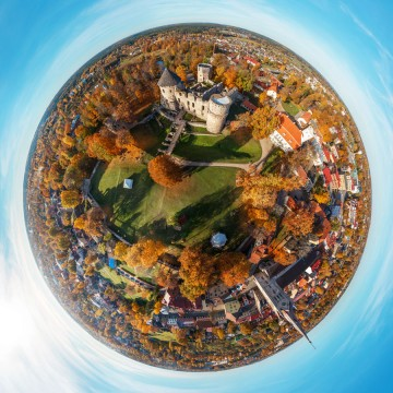 Cesis Castle - AERIAL 360 PANORAMA PLANET - THUMB