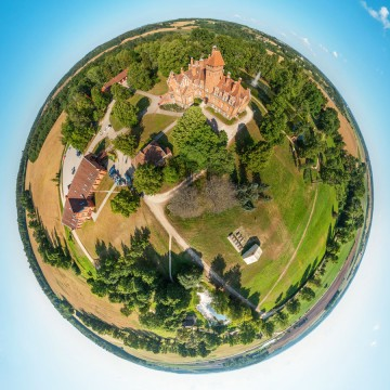 Jaunmoku Castle - AERIAL 360 PANORAMA PLANET - THUMB