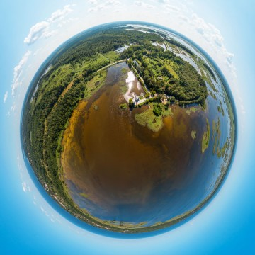 Kanieris Lake - AERIAL 360 PANORAMA PLANET - THUMB