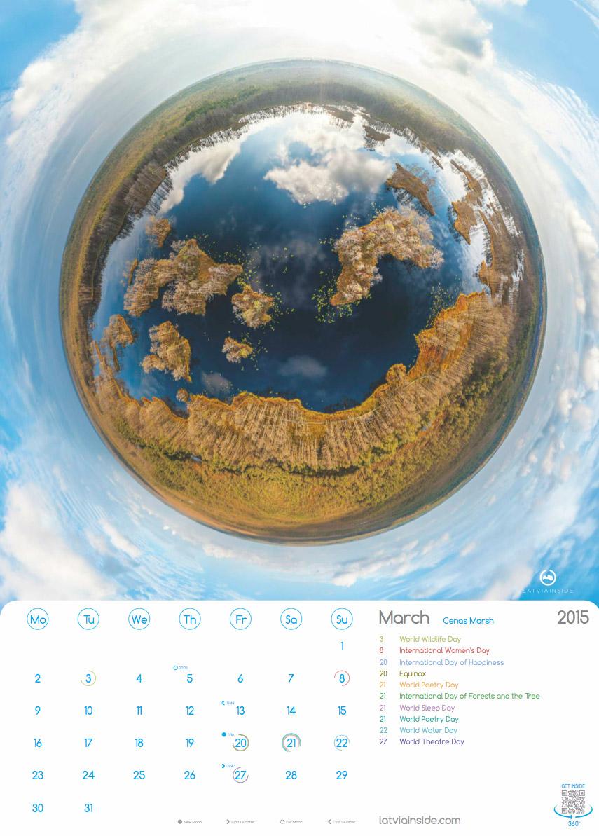 PLANET LATVIA 2015 Kalendars - 3