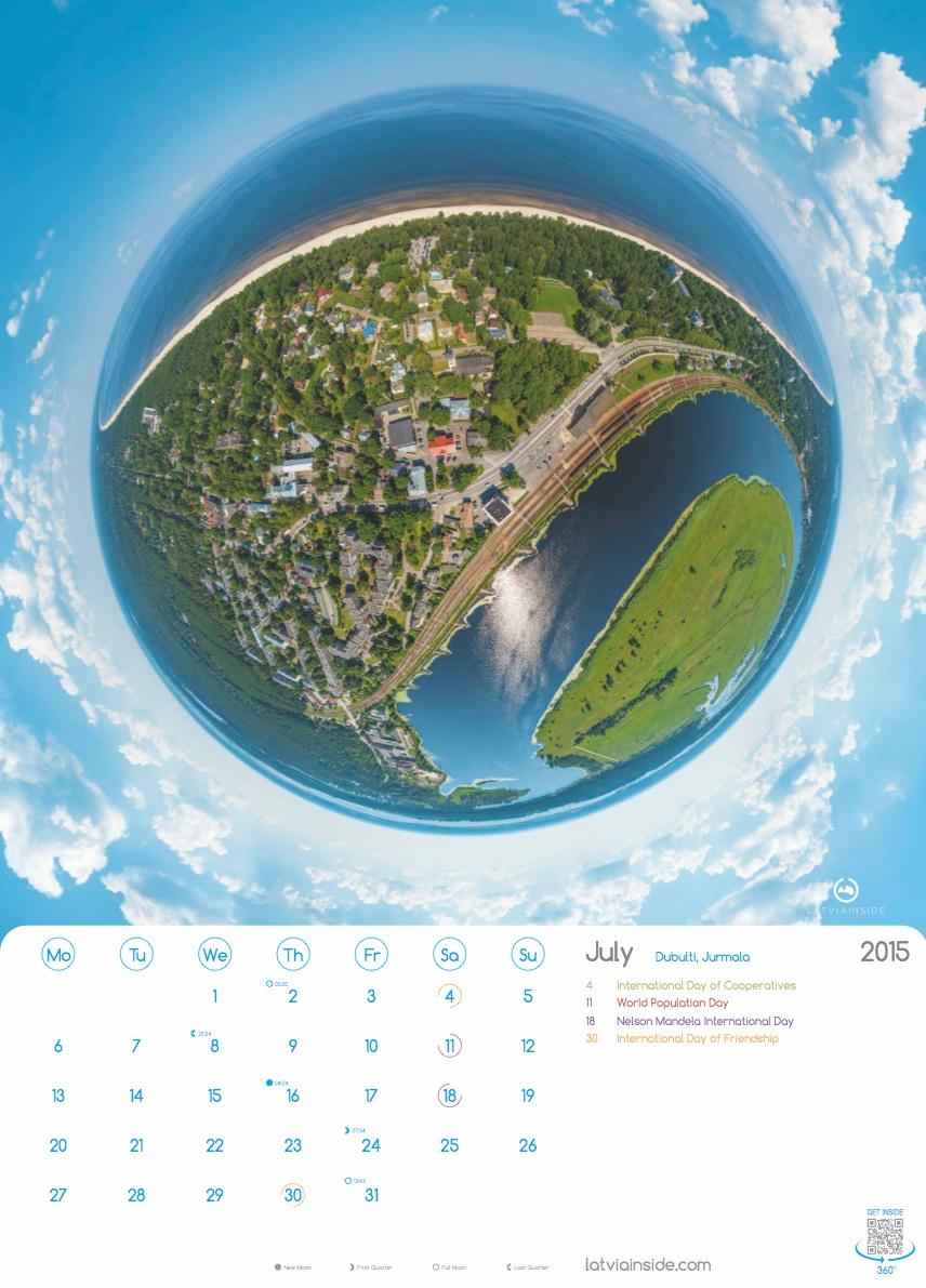 PLANET LATVIA 2015 Kalendars - 7
