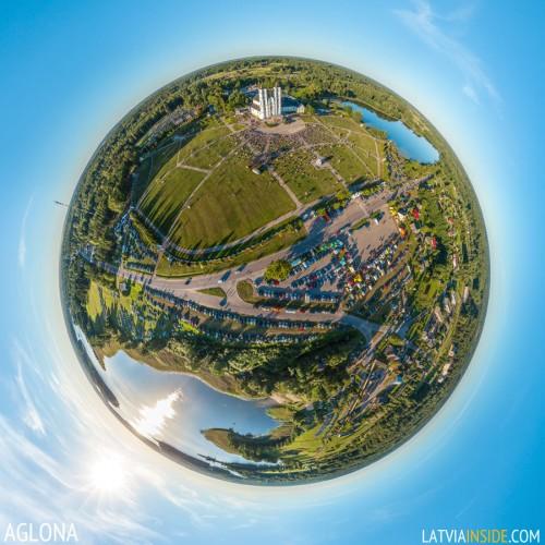 Aglona – 360° aerial panorama