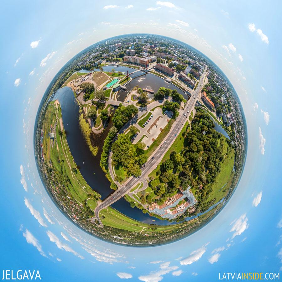 JELGAVA Aerial 360 degree Panorama 900PX