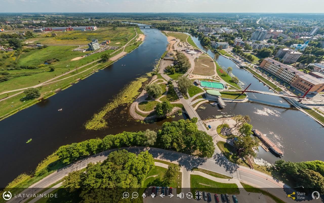 Jelgava Latvijas 360 gradu Aero Foto Virtuala Ture 1