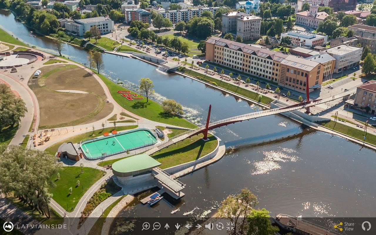 Jelgava Latvijas 360 gradu Aero Foto Virtuala Ture 2