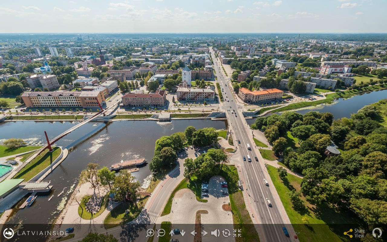 Jelgava Latvijas 360 gradu Aero Foto Virtuala Ture 3