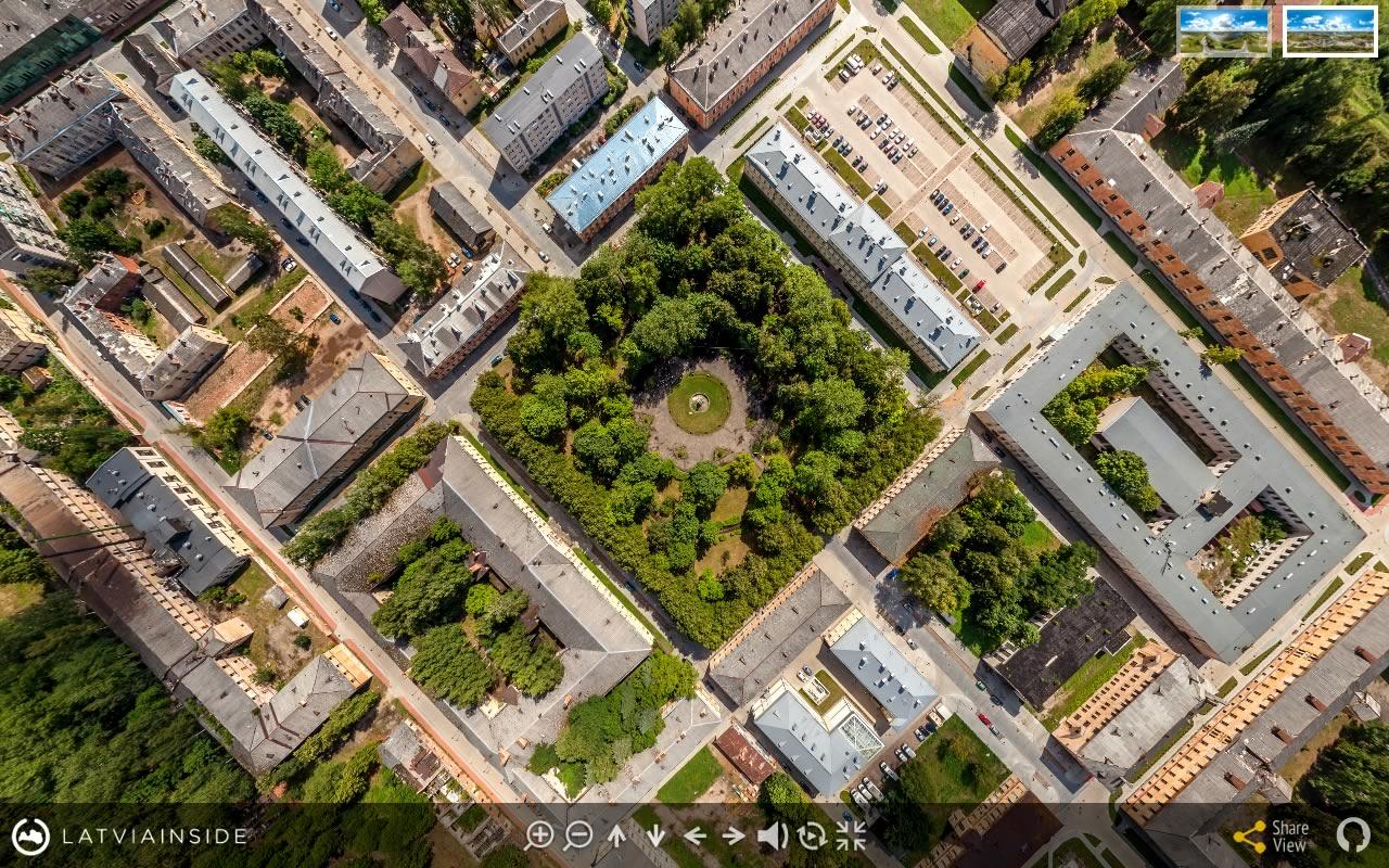 Daugavpils Cietoksnis 2 - Aero Foto 360 gradu Virtuala Ture | LATVIA INSIDE