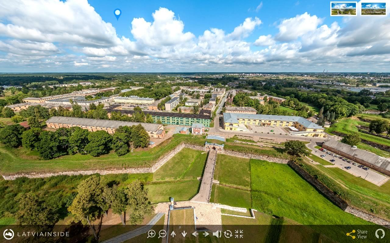 Daugavpils Cietoksnis 3 - Aero Foto 360 gradu Virtuala Ture | LATVIA INSIDE