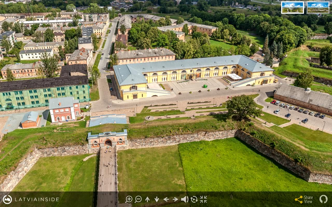 Daugavpils Cietoksnis 4 - Aero Foto 360 gradu Virtuala Ture | LATVIA INSIDE