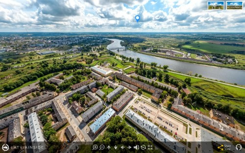 Daugavpils Fortress – 360° Aerial Tour of Latvia