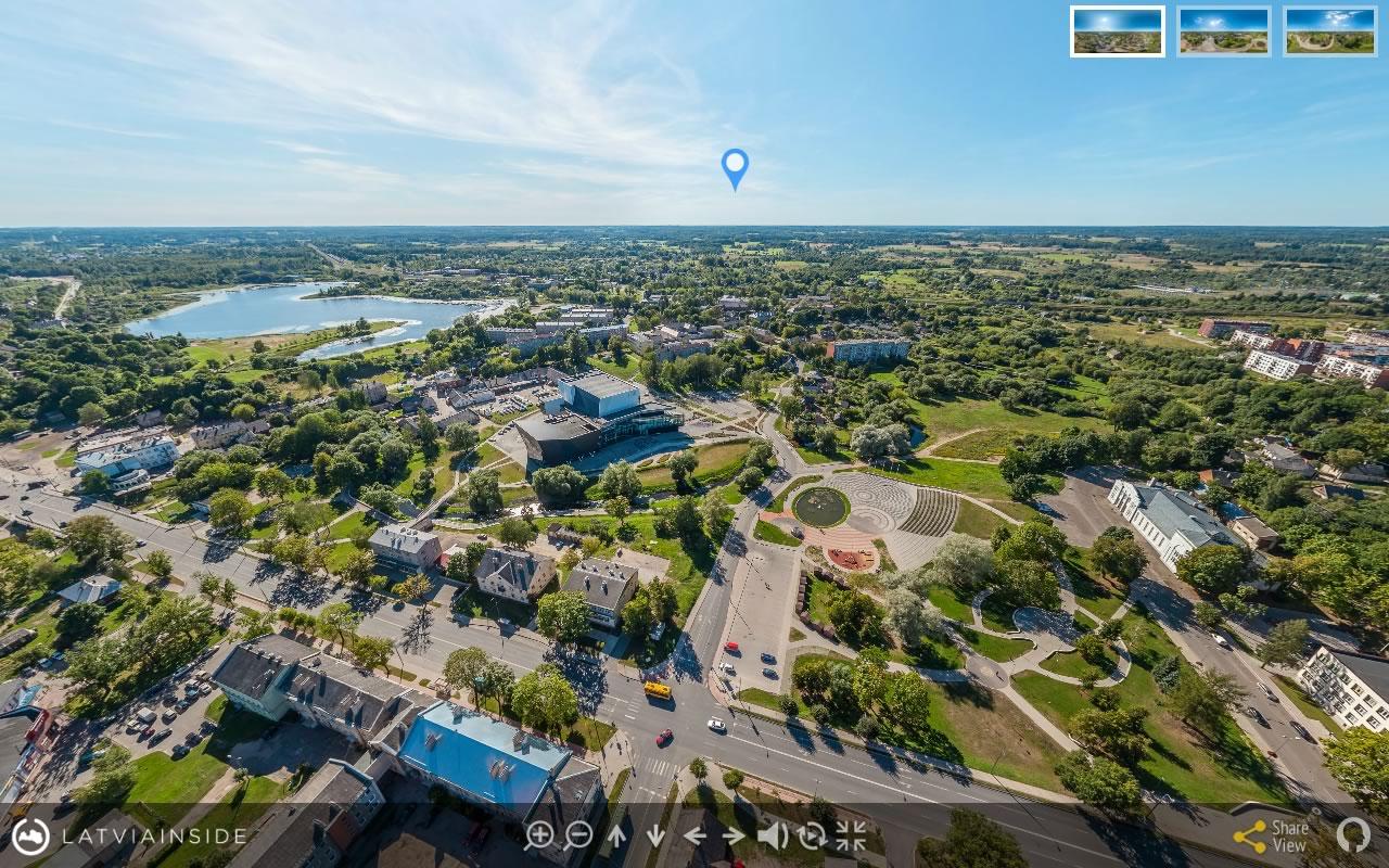 Rezekne 1 Aero Foto 360 gradu Virtuala Ture | LATVIA INSIDE