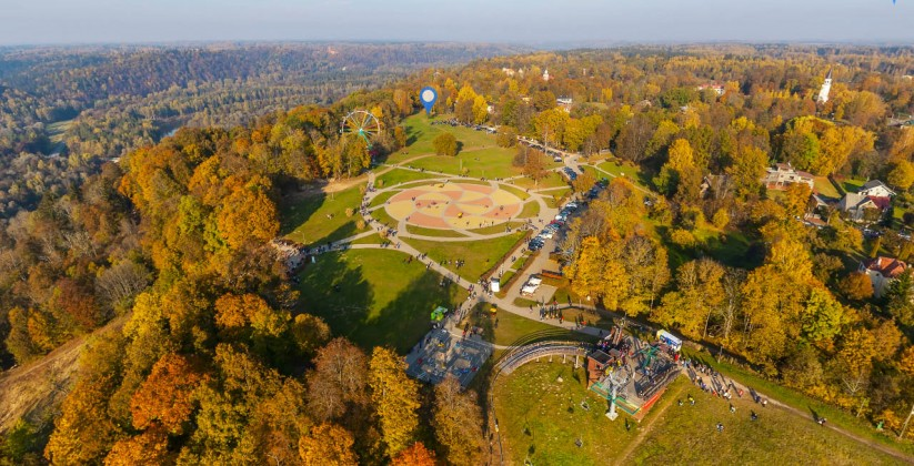 golden autumn in sigulda aerial tour latvia inside immersive
