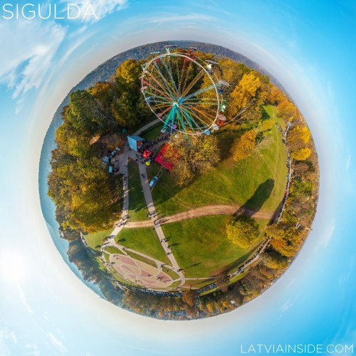 Golden Autumn in Sigulda | Aerial 360° Tour