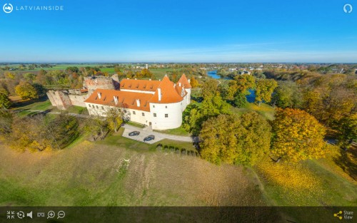 The Bauska Castle Aerial 360° panorama