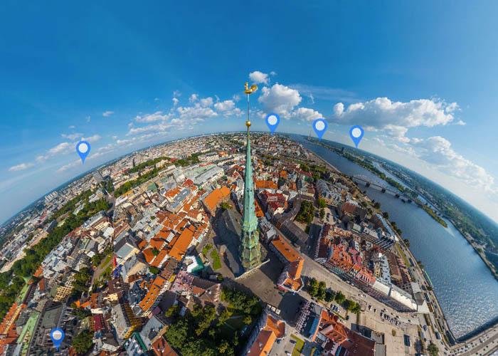 Riga VR Aerial 360° Tour